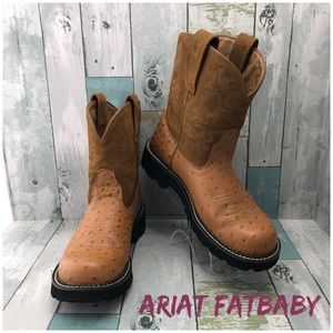 Ariat Fatbaby Leather Western Boots Size 8B EUC